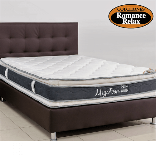 COLCHON MEGAFOAM PILLOW DOS CARAS 140X190 + BASE