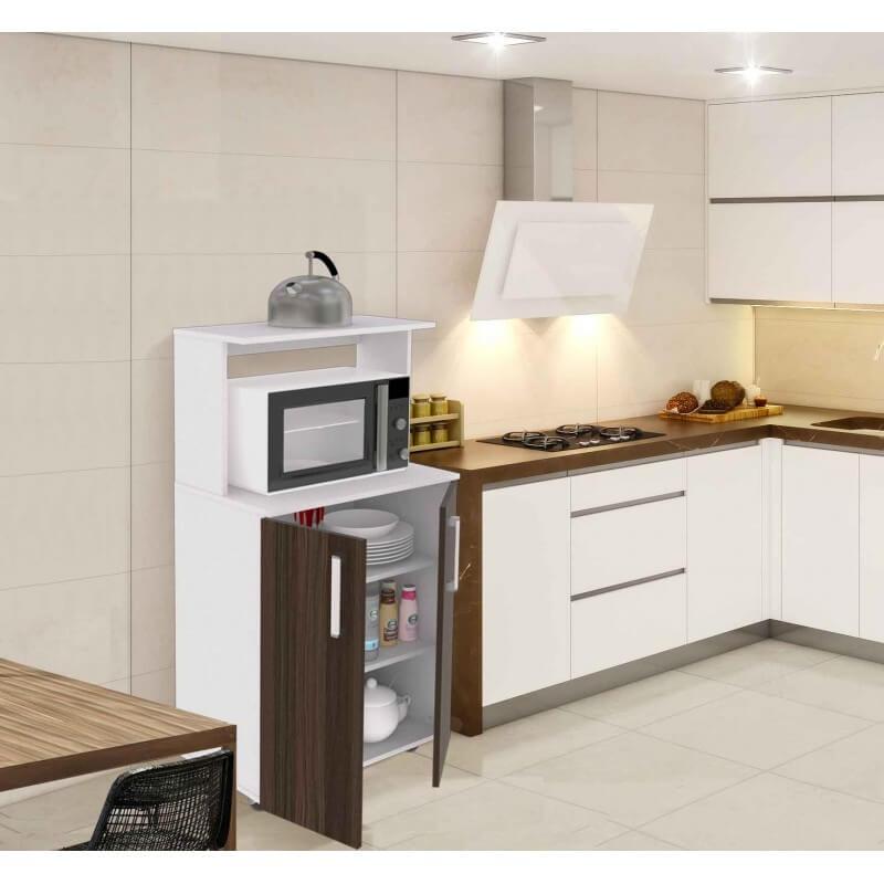 Mueble de microondas colhogar muebles colchones - Muebles auxiliares para microondas ...