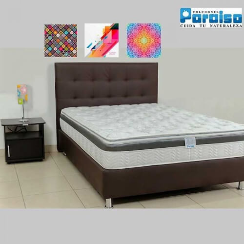 COLCHON ORTHOLIFE PLUS 140X190 + BASE + PROTECTOR + ALMOHADAS