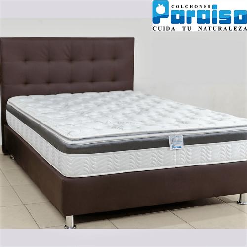 Promociones de colchones con base paraiso en medida for Colchon cama sencilla