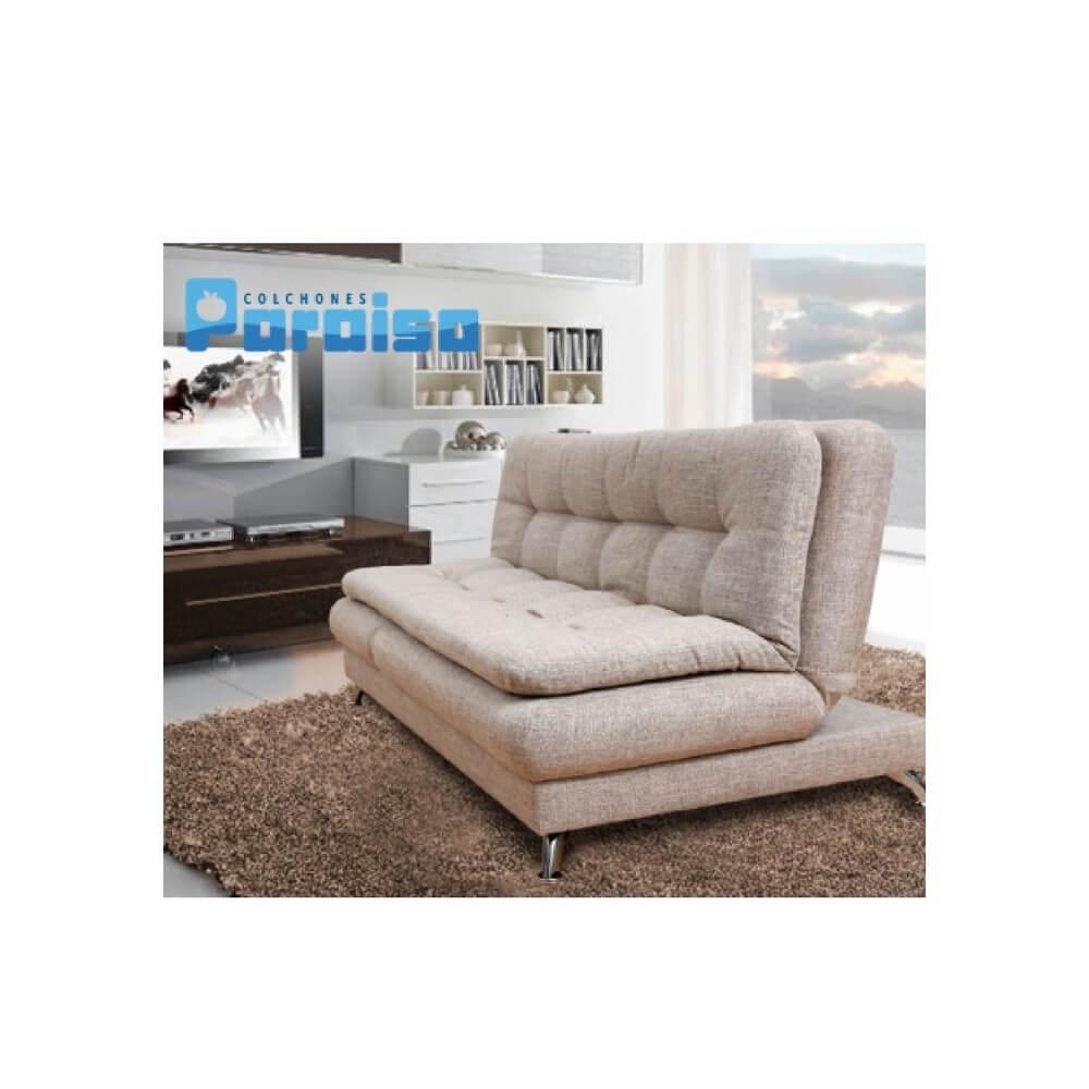 Sof Cama Multifuncional 3 Puestos Tela Man Colhogar Muebles  # Muebles Caqueta En Bogota