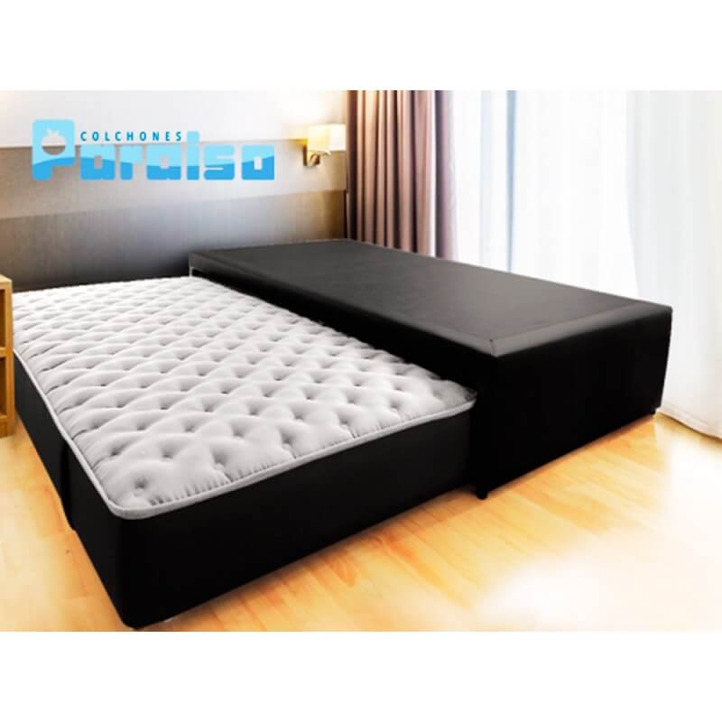 Combo colch n energy top 140x190 base protector for Cama nido con colchones