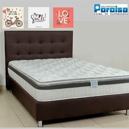 COLCHON ORTHOLIFE PLUS 100X190 + BASE + PROTECTOR + ALMOHADA